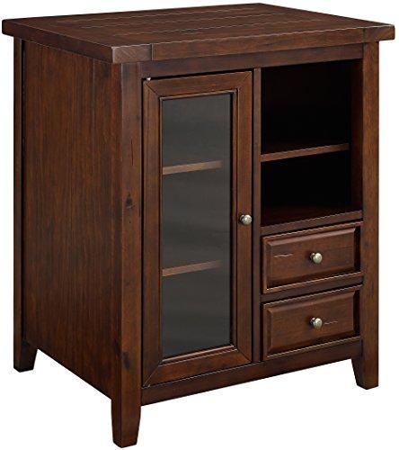 Crosley Furniture Sienna Accent Cabinet - Rustic Mahogany