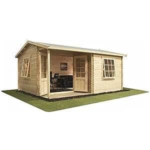 487,68 cm x 396,24 cm (5 m x 4 m) Premier Home Office campo de juguete (ventanas) (44 mm)