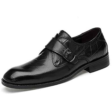 2018 Mens New Arrival Shoes, Men's Rustproof Metal Buckle Convenient Cover Feet Business Oxford Casual Classic Formal Shoes(Lace Shoe Optional) (Color : Black, Size : 2 UK Child)