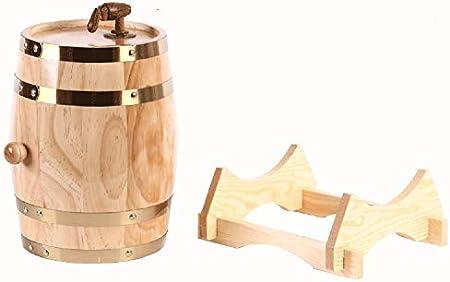Barril de roble La madera de roble del barril de vino Decanter, whisky barril dispensador for servir Tabla Inicio Accent almacenaje de la exhibición de los espíritus, licores, whisky retro Vino, cerve