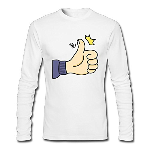 Grass8 Cartoon Thumb Custom Men's Long Sleeve T Shirt Men Blouse Cotton Comfort Soft Round Collar Tee Top HeatherGray For Men S White - Pelican Table Lamp