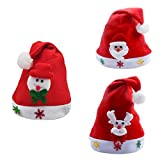 truck cap curtains - Christmas Decoration Hot Sale!!Kacowpper 3PC Kids Children Christmas Party Santa Hat Red Cap for Santa Claus Costume