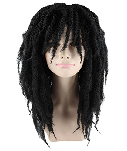 Dread Wigs (Long Dreadlock Wig, Womens Black Adult HW-1444)