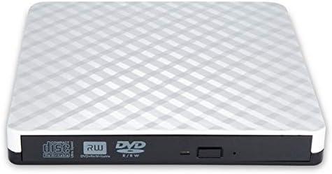 外部のBlu-rayドライブ、ポータブルブルーレイ、ホームオフィス用ブルーレイDVDプレーヤー (Color : White)