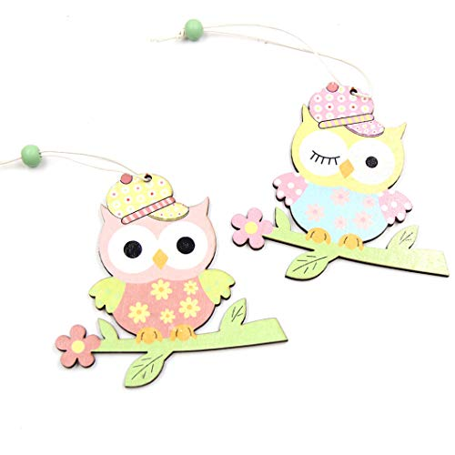 CAHEDSD 2PCS Lovely Birds Wooden Ornaments Spring Style