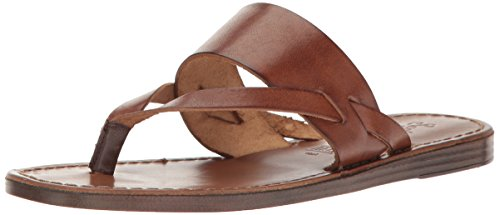 Seychelles Women's Mosaic Flat Sandal, Brown, 6.5 M US (Brown Sandals Leather)