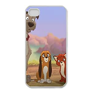 iPhone 4,4S Phone Case Cartoon Fox and the Hound Protective Cell Phone Cases Cover DFJ116863