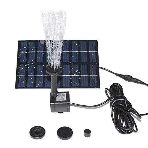 SOLAR WATER FOUNTAIN WITH 4 NOZZLE HEADS