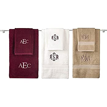 monogrammed decorative bath linens for home office and gifts hotel collection 100