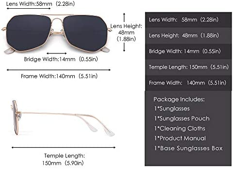 GLINDAR Polarized Aviator Sunglasses Men Women Lightweight Driving Glasses Metal Frame UV400