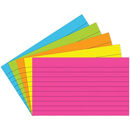 Notch Index (Top Notch Teacher Products TOP362 Lined Brite Assorted Index Cards, 0.7