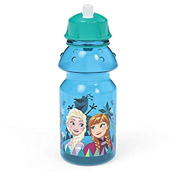 Zak Designs Disney Frozen 2 Plastic Water Push Button Motion and Locking Lid Consists of Transportable Carry Loop, Leak-Proof Design is Good for Outside Sports activities, BPA-Free, 14oz, Tritan Bottle
