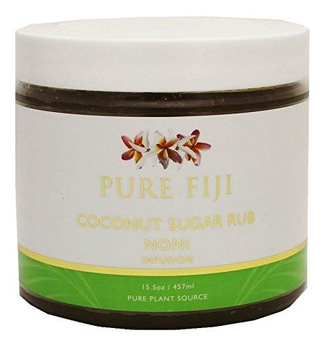 - Pure Fiji Coconut Sugar Rub NONI Infusion, 16 oz.
