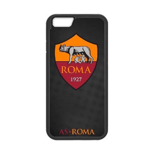 As Roma Logo coque iPhone 6 4.7 Inch Housse téléphone Noir de couverture de cas coque EBDOBCKCO17521