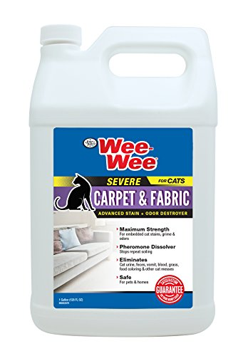 Four Paws Wee-Wee Cat Carpet & Fabric Severe Stain & Odor Destroyer, 128 oz