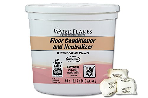 Stearns Water Flakes Floor Conditioner and Neutralizer in Premeasured Packets (1 pail per case - 90 x 0.5 oz. packets)
