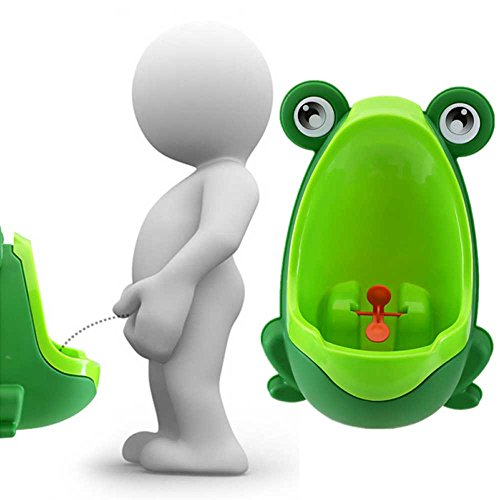 Training Potty Lovely Frog Children Kids Potty Removable Toilet Training Kids Urinal Early Learning Boys Pee Trainer Bathroom (Deep Green)