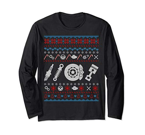 Car Parts Ugly Christmas T Shirt