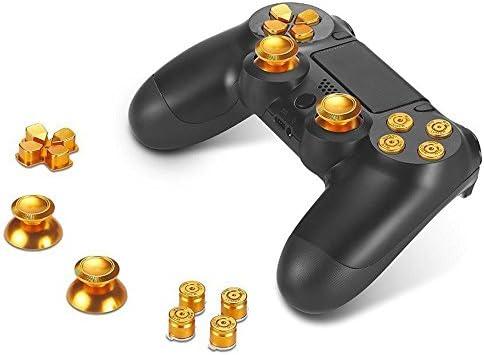 プレイステーション4対応 サムスティック キャップ 弾丸ボタン Dパッド  2色セット