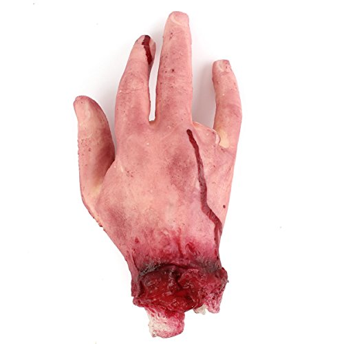 Halloween Party Prop Scary Horror Blood Fake 4 Fingers Broken Hand