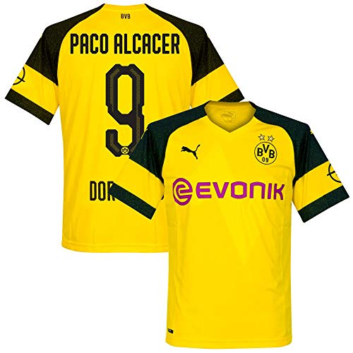 Borussia Dortmund Home Paco Alcacer 9 Jersey 2018/2019 (Official Printing) - XL