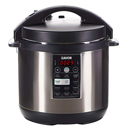 Zavor LUX Multi-Cooker, 6 Quart Electric Pressure Cooker, Slow Cooker, Rice Cooker, Yogurt Maker and more – Stainless Steel ZSELX02