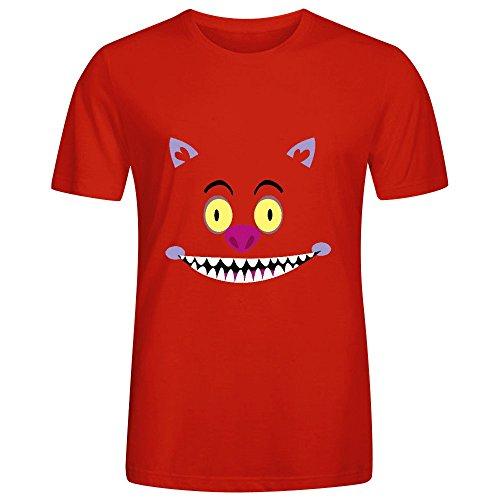 Cheshire Cat Mens Crew Neck Cotton T Shirt