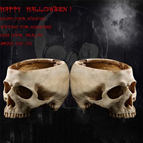 Prop Halloween Skeleton Animal Halloween Resin Skull Ashtray Container Box Skeleton Film Shooting Props Creative Flowerpot Halloween Home Decorations Nice Gift