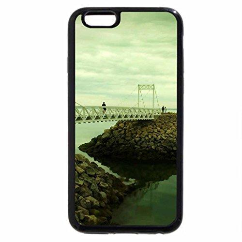 iPhone 6S / iPhone 6 Case (Black) little bridge on stone pier