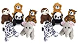 Adventure Planet 5-inch Zoo Animal Plush (Bulk Pack of 12 Pieces)