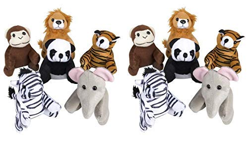 Adventure Planet 5-inch Zoo Animal Plush (Bulk Pack of 12 Pieces) -