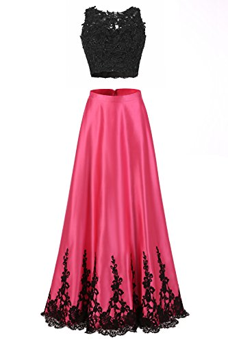 long black and pink prom dresses - 6