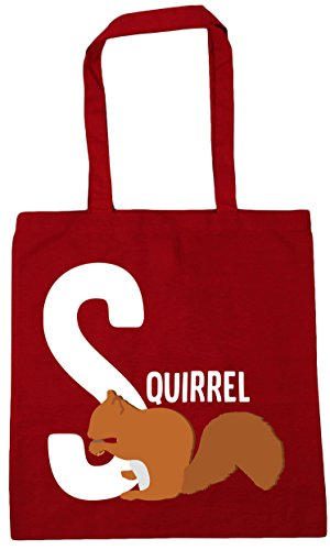 Shopping x38cm is Tote 42cm Classic litres Red animal squirrel 10 Gym HippoWarehouse S alphabet Beach for Bag Anw170Sq