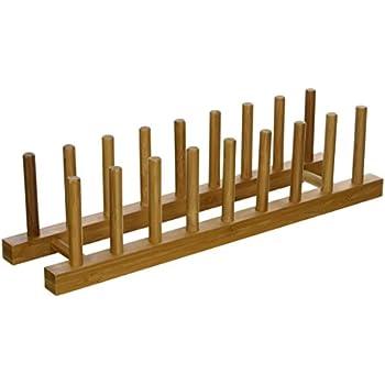 Lipper International 887 Bamboo Wood Plate Rack and Pot Lid Holder 15-1/  sc 1 st  Amazon.com & Amazon.com: Lipper International 887 Bamboo Wood Plate Rack and ...