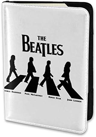 Meaning Beatles Logo ビートルズ パスポートケース メンズ レディース パスポートカバー パスポートバッグ 携帯便利 シンプル ポーチ 5.5インチ PUレザー スキミング防止 安全な海外旅行用 小型 軽便