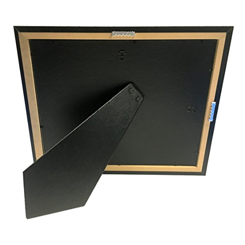 Creative Picture Frames CreativePF [11x14mh.gd] Mahogany Frame with Gold Rim, Black Matting Holds 8.5 by 11-inch Diploma with Easel and installed Hangers (12-Pack) by Creative Picture Frames (Image #5)
