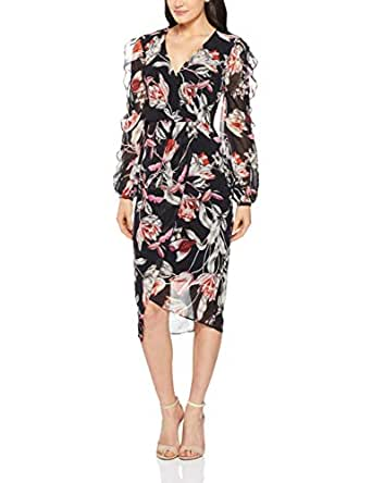 Cooper St Women's Harlow Drape Dress, Dark Print, 10