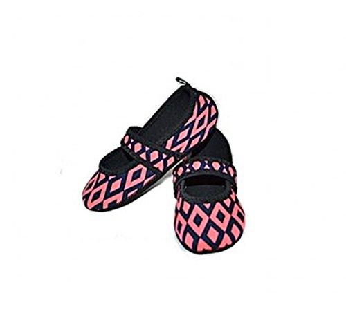 Betsy Count Medium Slipper Nufoot Lou Womens and 2 Pink Black Retro Shoes Indoor wdfpvqT