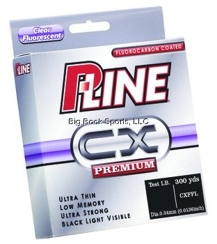 P-Line CX Premium Fluorocarbon Coated Filler Spool (300-Yard, 20-Pound, Clear Fluorescent), Outdoor Stuffs