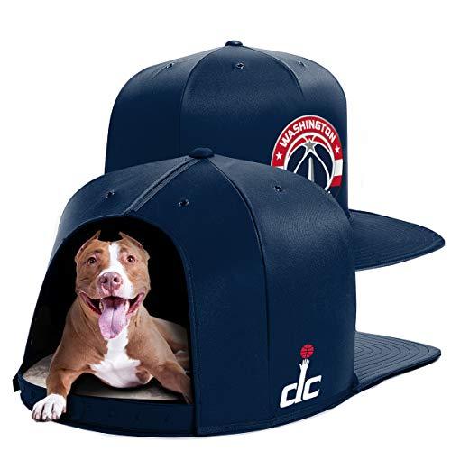 NAP CAP NBA Washington Wizards Team Indoor Pet Bed, Navy - Navy Cap Pet