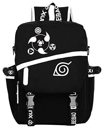 Gumstyle Naruto Anime Cosplay Luminous Laptop Backpack Rucksack Schoolbag Book Bag Unisex Student Black