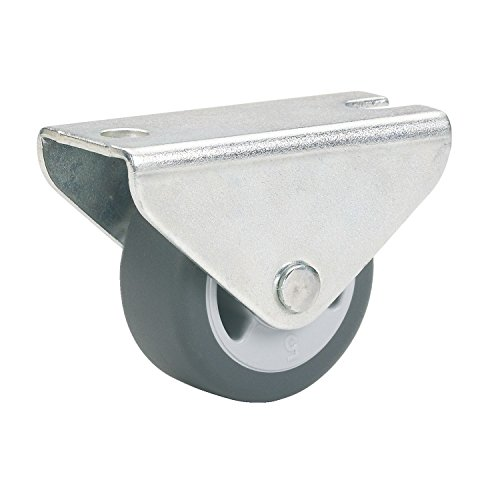 Parkett-Bockrolle 25x13 mm TPE-Rad grau