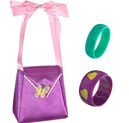 Party City Fancy Nancy Halloween Costume Accessory Kit for Girls, Includes Purse, Bracelets and Shoe Clips -