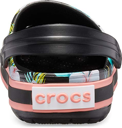 black Mixte 0cv Adulte floral Noir Sabots Seasonal Crocs Crocband Graphic Clog 8gFFZA