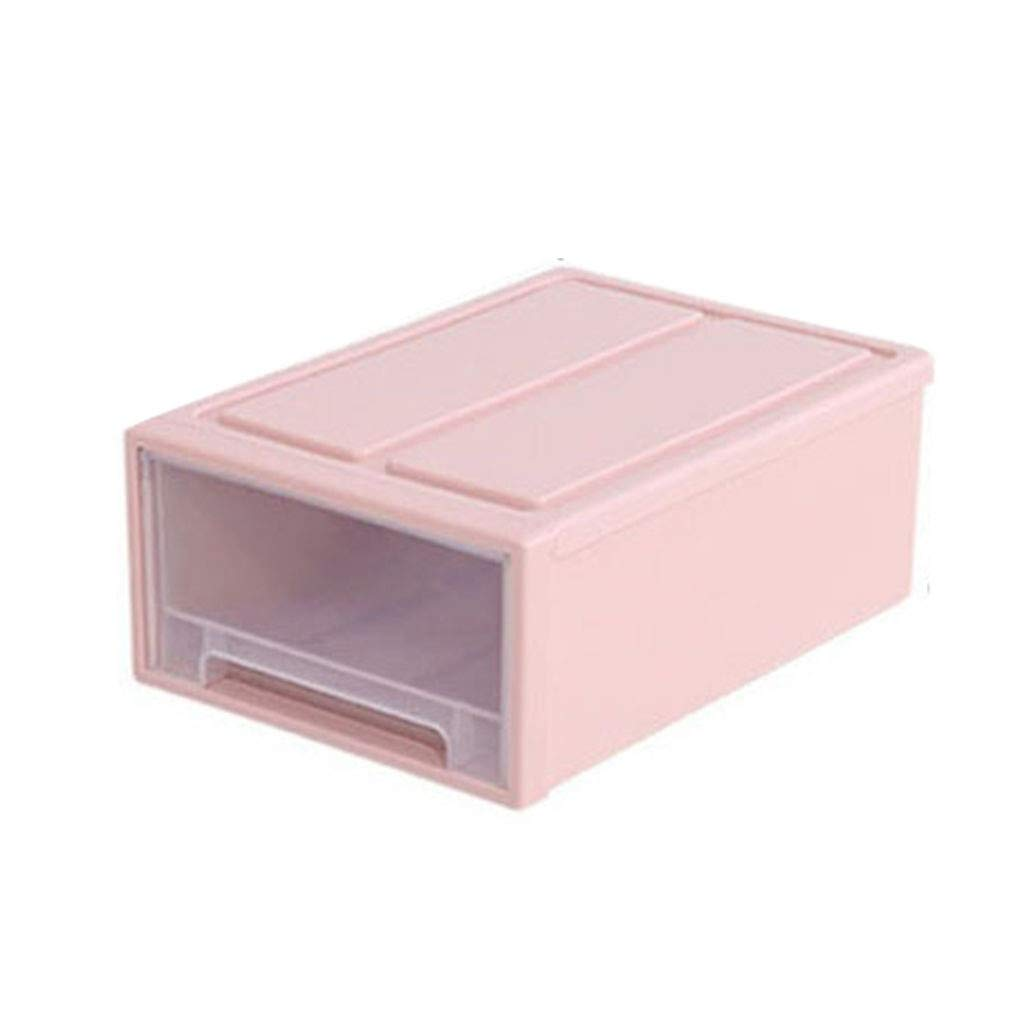 Ecosin Portable Drawer Toolbox Storage Box Storage Container Drawer Plastic Style Minimalist Stackable (Pink, A:5)