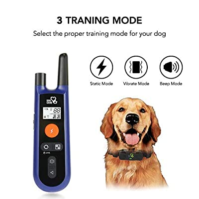 DOG CARE Dog Training Collar - Upgrated Dog Shock Collar w/3 Training Modes, Beep, Vibration and Shock, 100% Waterproof Training Collar, Up to 1000Ft Remote Range, 0~99 Shock Levels Dog Training Set