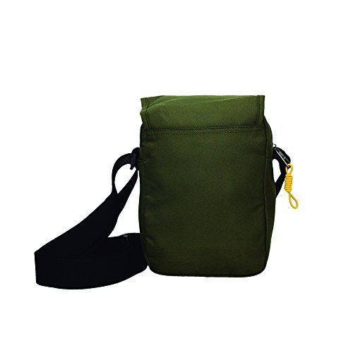 Bolso bandolera hombre solapa tirador amarillo (Verde) Verde