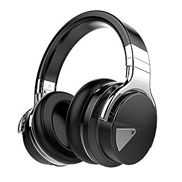 HHLUW Active Noise Cancelling Auriculares Bluetooth Auriculares inalámbricos Deep Bass Estéreo - Negro