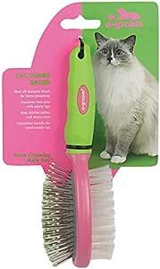 "u•groom Bristle/Pin Cat Combo Brushes — All-Purpose Brushes for Cat Grooming, 7"""