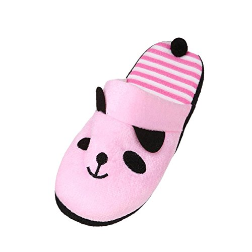 OverDose Unisexe Chaussons Panda Femme Pantoufle Souple Chaussures Antidrapante Slippers Rose